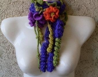 PATRON TUTORIAL  Crochet  bufanda cuello Formas libres  freeform -  Patron de crochet electronico  en español - Descarga Inmediata
