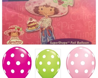 Vintage Strawberry Shortcake Balloon Party Package