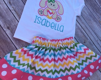 Easter outfit , Girl Easter Outfit , Toddler Easter Outfit , Personalized Easter Outfit , Infant Easter Outfit , Bunny Outfit