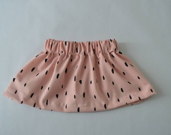 Baby skirt pink with black sweep-baby clothes