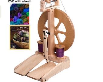 Ashford Kiwi 2 Spinning Wheel Free Shipping - the perfect student wheel! Inexpensive Spinning Wheel, Simple Spinning Wheel.