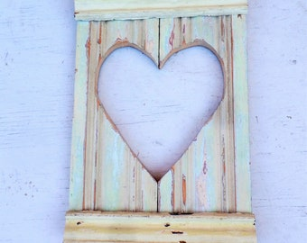 Wood Wall Heart, Salvaged Wood Heart, Rustic Wall Decor Reclaimed Wood Heart Distressed Heart Rustic Heart Chippy Heart, Pastel Heart