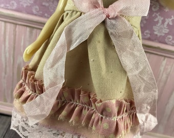 Blythe Dress - Tea Stain with Pink Spot