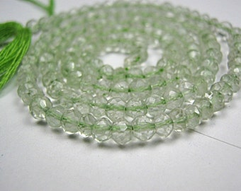 Prasiolite Gemstone. Faceted  Rondelles Semi Precious Gemstone.  Strand-Your Choice  3mm to 3.5mm  (06pra)