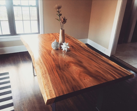 Live Edge Monkey Pod Dining Tables