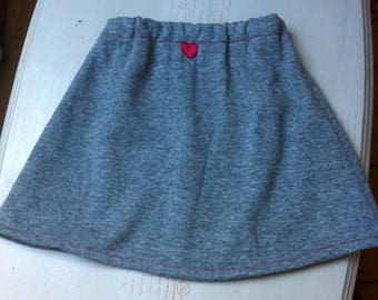 grey fleece line skirt