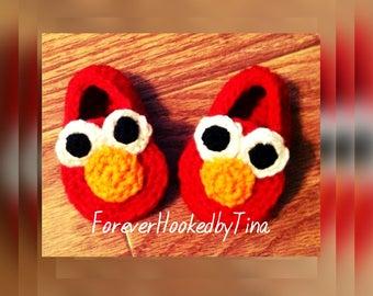 Toddler Elmo Slippers Crochet Pattern