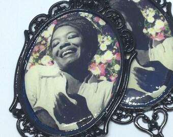 I Rise | Maya Angelou Cameo Earrings | Female Empowerment Jewelry