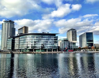 "PRINT: 8 x 12"" Landscape Photography of Media City UK. Manchester. City Photography"