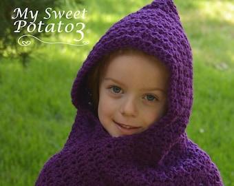 PATTERN Wrap Me Tender Hooded Scarf - Crochet