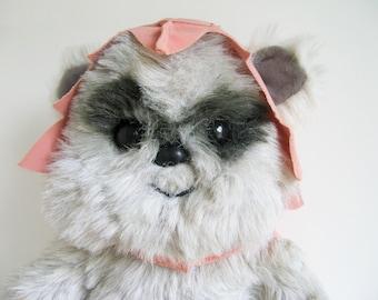 Vintage Ewok Princess Kneesaa Plush Star Wars Return of the Jedi Kenner 1980s Toy Stuffed Animal