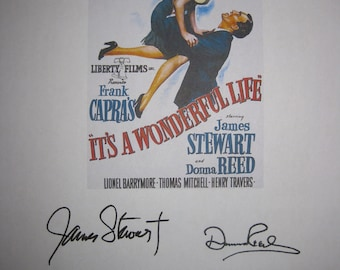 It's a Wonderful Life Signed Film Movie Script Screenplay Autographs James Stewart Donna Reed Lionel Barrymore Signatures classic film