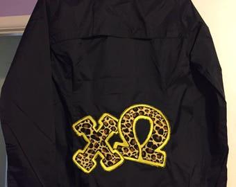 Greek Letter Rain Jacket