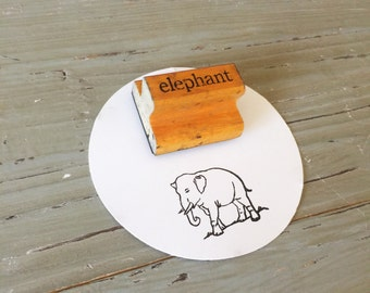 Vintage Elephant Stamp / Wood Elephant Stamp / The Classroom Printer / Teacher Gift / Zoo Theme / Printer Stamp / Elephant Decor