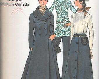 Vintage 1970s Vogue Sewing Pattern 7901 - Misses' Coat, Blouse, Skirt and Pants size 10 bust 32 1/2 uncut FF