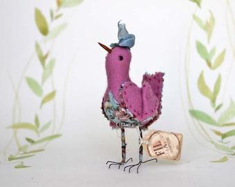 Oiseaux d'été en feutre avec boucle