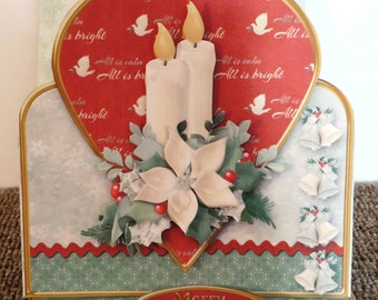 All is bright Christmas easel card.