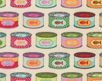 Cat snacks in Strawberry Fields from the Tabby Road fabric collection by Tula Pink for Free Spirit fabrics