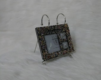 tabletop photo frame hand stoned