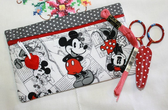 Side Kick Red Gray Mickey Bag