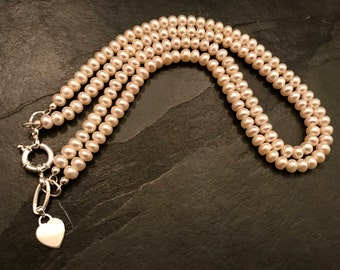 Pearl Necklace Bridal Jewelry Freshwater Pearls White AAA Quality