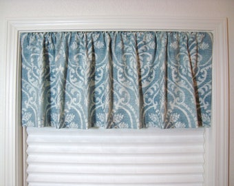 Swavelle Damask Valance Kitchen Curtain Kitchen Valance Modern Valance 50x12 50x14 50x16 50x18