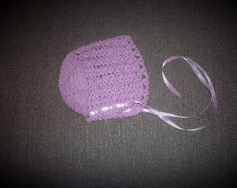Thread Crochet Baby Bonnet