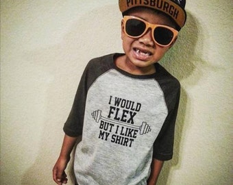 I would flex youth raglan tee