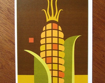 Indian Corn Note Card