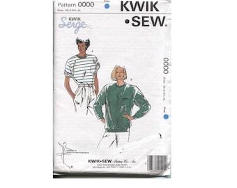 Knit Tee Shirt Pattern  - Size XS S M L XL - Long or Short Sleeves Kwik Sew 0000