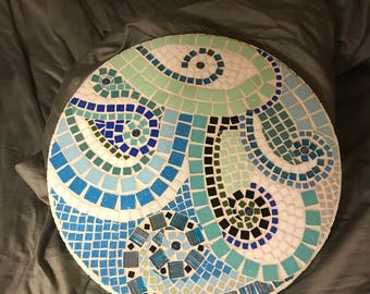 Mosaic tile Lazy Susan and Wall Art