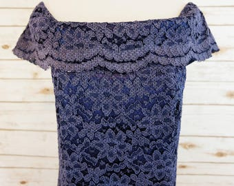 Handmade Blue Lace Gown