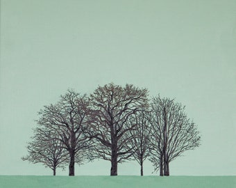 Winter Green Trees