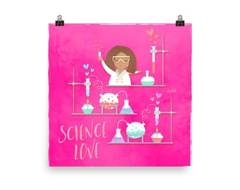 NAHLI Science Love Pink Posters