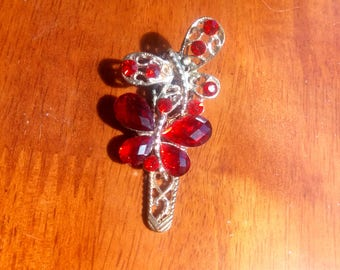 Red Butterfly Hairclip