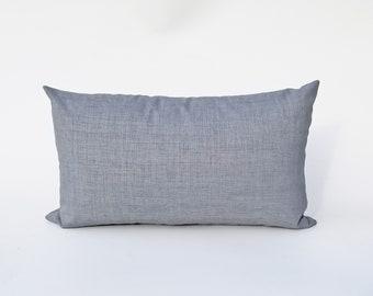 Outdoor Solarium Graphite Gray Woven Pillow Cover