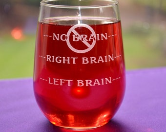 Personalized Engraved Funny Brainiac Glass~Brain Surgeon Gift~Neurologist Gift~Graduation Gift~Science Teacher Gift~Good Day/Bad Day Glass