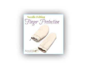 Leather Finger Glove for Felting, Finger Cots, Finger Protection, Needle Felting Protectors, Felting for Children, Felting for Beginners
