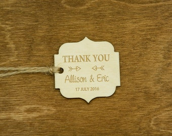 Wedding Gift Tags Wooden Hang Tags Wedding Party Favor Rustic Gift Tags Wooden Thank You Tags