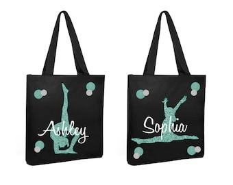 gymnastics tote bag, gymnastics team tote, gymnastic team bag, personalized gymnastics bag, gymnast bag, personalized tote, personalized bag