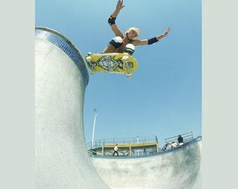 "80s Skate Photo - Mike Smith 24X36"" Acid Drop Eighties Skateboarding Photograph 24x36"" Print - Grant Brittain Skate Photo Print"