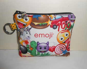 emoji Party inspired coin bag/key chain/ gift card holder/coin purse