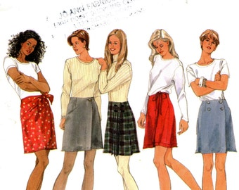 Simplicity 9814 Skirt A-Line with Variations Size 4 6 8 Uncut Sewing Pattern 1995