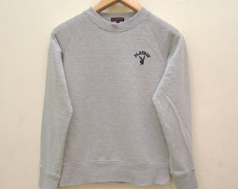 Vintage Playboy Minimalist Logo Sweatshirt Street Wear Urban Fashion Size L