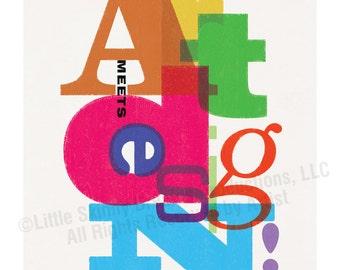 Art Meets Design! (Vs. 1), 18 x 24 Tribute Art Print