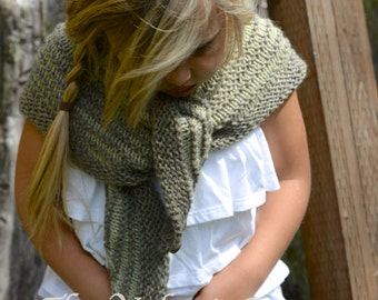 KNITTING PATTERN-The Bramble Shawl (Small, Large)