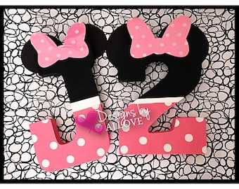 Minnie Birthday Letter & Number//First Birthday//All Birthdays//Minnie Mouse//7 3/4 inches//PINK Minnie Theme