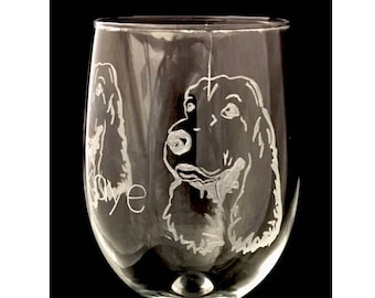 Cocker spaniel wine glass / cocker spaniels / cocker spaniel gift ideas / cocker item / dog engraved wine glass / dog lover gifts / personal