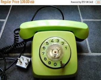 telephone with pullover, old Bulgarian phone, green telephone, produced in Bulgaria, 1988, telephone, telecommunication, Bulgarian style.