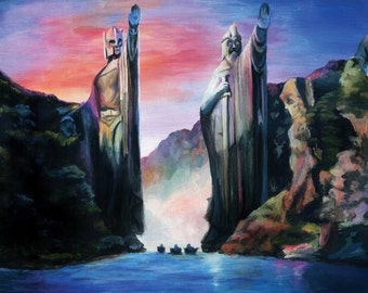 The Gates of Argonath (Lord of the Rings) 14x11